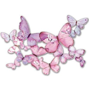pink butterfly frieze